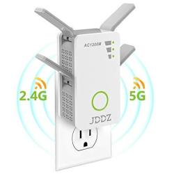 JDDZ Wifi Range Extender Wireless Repeater Internet Signal Booster 2 4GHZ  5GHZ Dual Band Up To 1200 Mbps Work For House Basement | R1931 00 | Other
