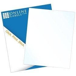 Online Labels Gloss Sticker Paper 100 Sheets Blank Glossy Full Sheet Label  - Inkjet Only - 8 5