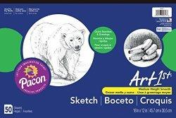 """ART1ST Sketch Pad 18""""X12"""" White 50 Sheets"""