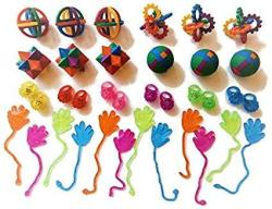 MULTI Kids Party Favors Sticky Hands Puzzle Balls Light Up Rings