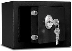 USA Zcf Security Safes MINI Safes Solid Steel Security Safe Box Key Lock Great For Home Office Hotel Business Usejewelry Cash Valuables Storage Color :