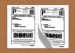 RBHK 200 Half Sheet Laser ink Jet Shipping Labels Usps Ups Fedex Address Labels