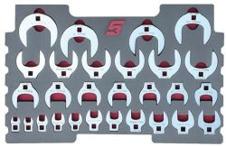 "28PC 3 8"" Crowfoot Wrench Set For Kmc All Weather Top Chest"