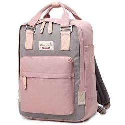 Water-resistant School Backpack Travel Bag Fits 14INCH Laptop For Student PINK01