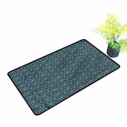 Door Mat Outdoor Patioantique Orient Circles Corners Stylish Welcome Mats H23XW35 Inch