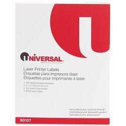 Universal UNV80107 - Laser Printer Permanent Labels