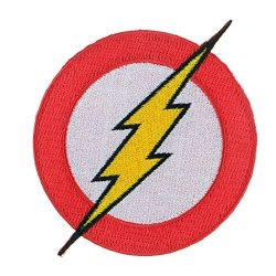 Iron Sew On Applique Patch : The Flash Red