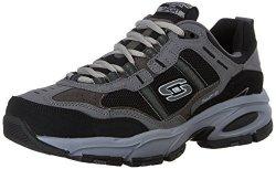 Skechers Sport Men's Vigor 2.0 Trait Memory Foam Sneaker Charcoal black 11.5 Xw Us