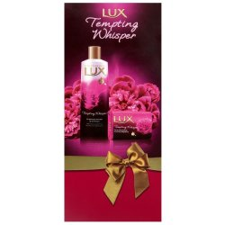 LUX - Tempt Whisper Giftset Bw 400ML+175G Bar+loofah