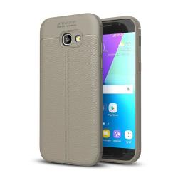 For Galaxy A5 2017 A520 Litchi Texture Tpu Protective Case Grey