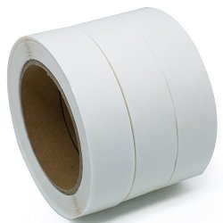 "Hybsk Tm Clear Retail Package Seals 1"" Round Circle Wafer Stickers labels 1 000 Per Roll 3 Roll"