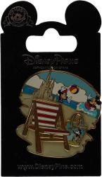 Wdw Trading Pin - Mickey & Minnie Mouse Playing At The Beach