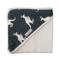 Poogy Bear Hooded Towel Grey Kangaroos