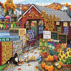 ?usa In Stock?halloween Pumpkin Lantern Ghost Jigsaw Puzzle 1000 Pieces Intellective Learning Diy Puzzles Toys For Adults Kids B