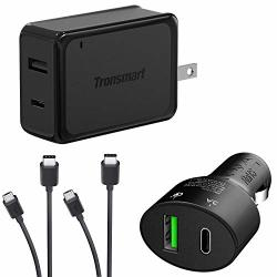 Turbo Quick Wall And Car Charger Kit For Huawei Y3 II With Microusb & USB Type-c Cables 33WATTS