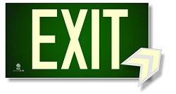 NightBright USA Photoluminescent Exit Sign Green - Code Approved Ul 924 IBC 2012 NFPA 101 2012