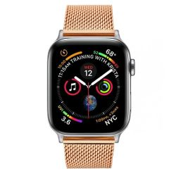 Colton James Mesh Strap For Silver 44MM Apple Watch - Rose Gold
