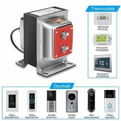 Fcho 24V 40VA Thermostat And Doorbell Transformer Power Supply Compatible With Honeywell Thermostat Nest Hello Doorbell And All Versions Of Ring Doorbell