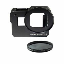 Genustech Genus Cage For Gopro HERO5 HERO6 And HERO7 Black With Nd 0.9 ND8 52MM 3 Stop Neutral Density Filter
