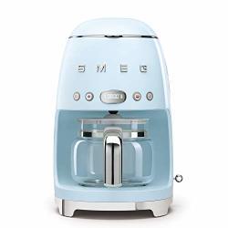 Smeg 50'S Retro Style Aesthetic Drip Filter Coffee Machine 10 Cups Pastel Blue