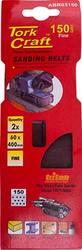 Tork Craft Sanding Belt 60x400mm 150grit 2 pack for Triton Palm Sander