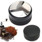 Espresso 52MM Powder Distributor W three-angled-slopes Base Coffee Tamper Coffee Filter