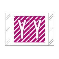 "Col-r-tab Compatible 59702742 12000 Color Code Alpha""y"" Label 1-1 2"" X 1"" Magenta Mylar Permanent Pack Of 500"