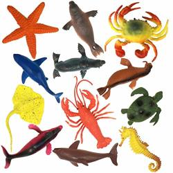 US Toy Lot Of 12 Assorted Whale /& Shark Figure Kids Play Game Christmas