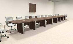 Modern Boat Shaped 30' Feet Conference Table OF-CON-CP54