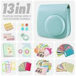 Fujifilm Instax MINI 9 Ice Blue Case And Matching Accessories Bundle