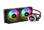 KWG Crater M1 240 Dual Liquid Cooler Both Fans And Pump Can Sync With Motherboard Software Or Remote Controller Easily Access Va