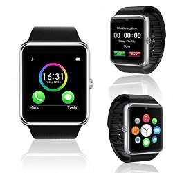 InDigi GT8 Stylish Bluetooth 3.0 Sync Smart Watch For Android Iphone Samsung Htc LG W Remote Shutte