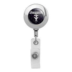 Wwe Undertaker Logo Retractable Reel Premium Metal Chrome Badge Id Card Holder Clip