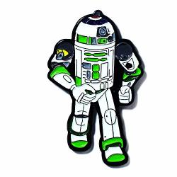R2D2 Buzz Lightyear Star Wars Vs Toy Story Collectible Pendant Lapel Hat Pin