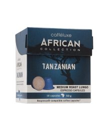 Caffeluxe African Collection Tanzanian Medium Roast 10 Capsules