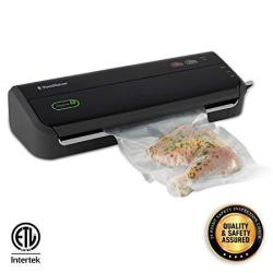FoodSaver FM2000 Vacuum Sealer Machine With Starter Bags & Rolls Safety Certified Black