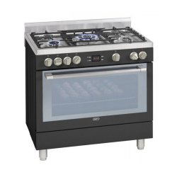 Defy DGS162A 5 Burner Gas Electric Stove in Black
