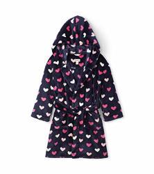 Hatley Girls' Little Fuzzy Fleece Robe Lovey Hearts Small 2-3 Years