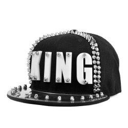 Men Locomo Wo Black Hedgehog Spike Acrylic King Baseball Cap Snapback FFH068