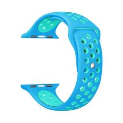 Blue And Light Blue 42MM S m Nike Style Strap Band For Apple Watch