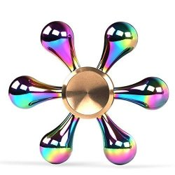 MMTX Fidget Spinner Tri Fidget Spinner Fast Bearings Finger Spinner Hand Spinner Toy For Killing Time Relieves Stress And Anxiety Great Gift For Chlidren