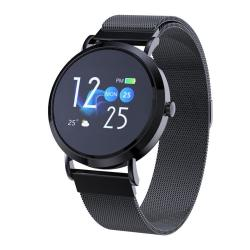 CV08C 1.0 Inch Tft Color Screen Steel Watch Strap Smart Bracelet Support Call Reminder Heart Rate Monitoring blood Pressure Monitoring Sleep Monitoring blood Oxygen Monitoring
