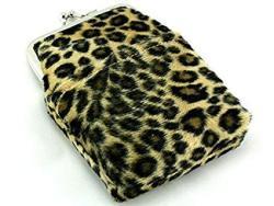 Skyway Leopard Faux Fur Cigarette Pack Holder Case With Lighter Pouch