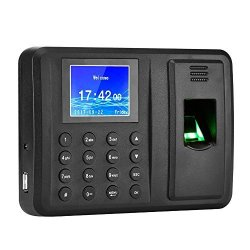Antner Fingerprint Time Attendance Clock Output Attendance Report Directly USB Flash Disk Download Employee Payroll Recorder Black