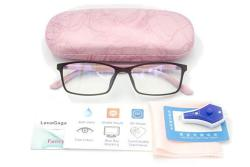 Lena Gaga Women Anti Blue Light Glasses Block Eye Strain Glare With Case Tester Gaming Computer Glasses Blue Light Block Glasses