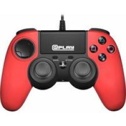 @Play - Officially Licensed PS4 Wired Controller - Red PS4