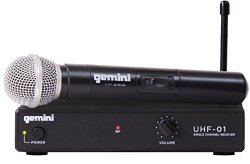 Gemini UHF-01M F3-SINGLE Channel Wireless Microphone System