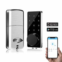 Smart Door Lock Seesii Electronic Deabolt Locks With Touchscreen Work With App Control- Keyless Entry Door Lock Deadbolt With Keypad Auto Lock For Home hotel apartment