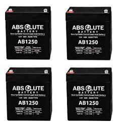 4 Pack New AB1250 12V 5AH Sla Battery For Liebert Powersure Personal Psp 300