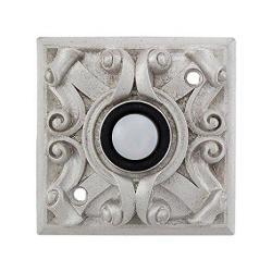 Vicenza Designs D4008 Sforza Square Style Doorbell Satin Nickel